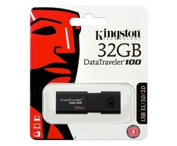 MEMORIA USB 3.0 KINGSTON DE 32 GB LECTURA 40MB NEGRO