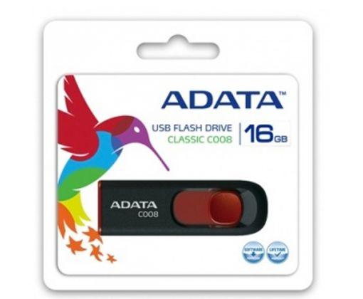 Memoria USB Retractil 2.0 ADATA de 16GB color negro/rojo