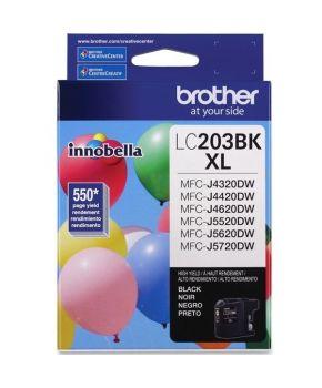 Cartucho de Tinta Brother LC203BK Negro  Original para 550 páginas.