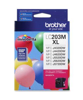 Cartucho de Tinta Brother LC203M Magenta Original para 550 páginas.