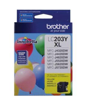 Cartucho de Tinta Brother LC203Y Amarillo Original para 550 páginas.