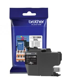 Cartucho de Tinta Brother LC3019BK Negro Original de Alto rendimiento para 3,000 páginas.