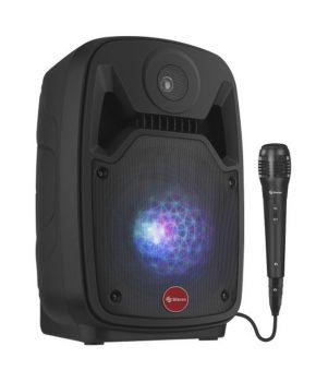 """Bafle de 8"""" 550 WPMPO Bluetooth con batería recargable marca Steren."""