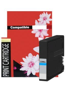Cartucho de Tinta PGI-2200XLC Cyan Generación 2 de Alto rendimiento para 1,500 páginas.
