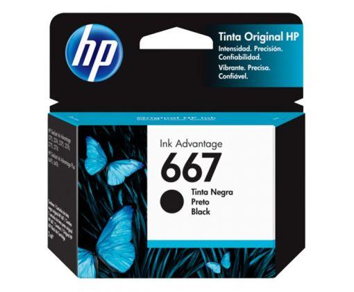 Cartucho de Tinta HP 667 (3YM79AL) Negro Original para 120 páginas.