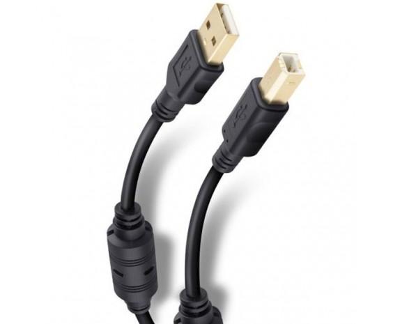 Cable Elite USB a USB tipo B (impresora) de 3.6m Conectores Dorados marca Steren
