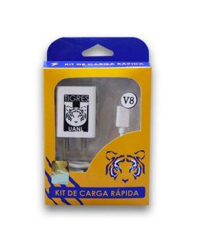 Kit de Carga Rápida Cargador de Pared y Cable Micro USB con logo de Tigres