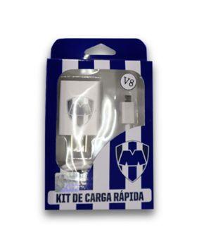 Kit de Carga Rápida Cargador de Pared y Cable Micro USB con logo de Rayados