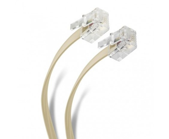 Cable de plug a plug RJ11 de 30 m para extensión telefónica marca Steren