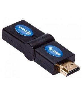 Adaptador HDMI de Jack a Plug Gira hasta 180 grados marca Steren