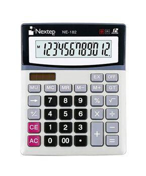 Calculadora de Escritorio de 12 Dígitos Cubierta Metálica Bateria/Solar pieza marca Nextep