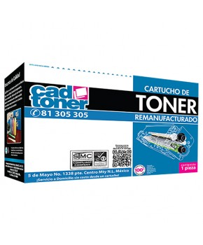 Cartucho de Toner 508A (CF363A) Magenta Remanufacturado marca Cad Toner sin intercambio para 5,000 páginas.