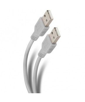 Cable USB de 1.8 mts. con conectores niquelados marca Steren