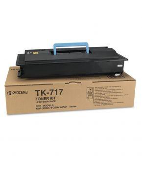 Cartucho de Toner Kyocera TK-717 Negro Original para 34,000 páginas.