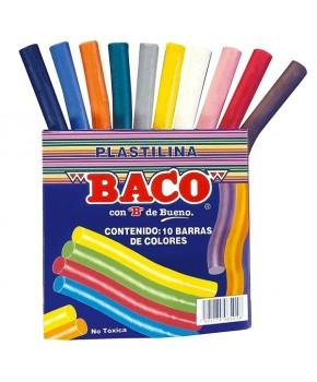Plastilina en barra paquete c/10 colores
