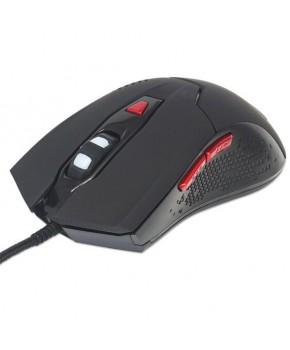 Mouse Gamer Alámbrico de 6 botones con luz RGB marca Manhattan