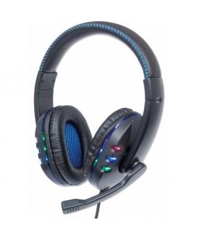 Audífono tipo Gamer con control de volumen y luz led marca Manhattan