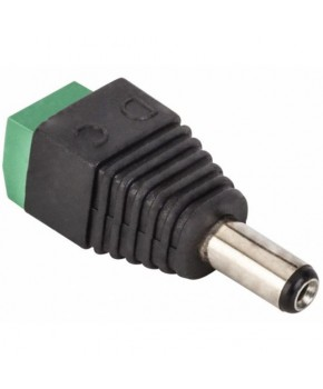 Adaptador Plug Invertido 2.1 mm a 2 terminales atornillables marca Steren