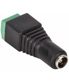 Adaptador Jack Invertido 2.1 mm a 2 terminales atornillables marca Steren