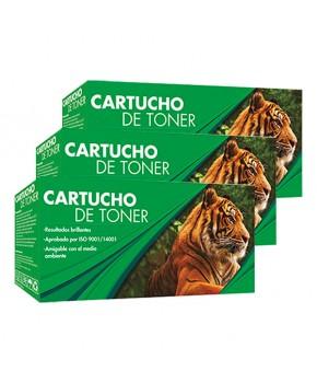 Tri Pack de Cartucho de Tóner 105X (W1105X) Negro Generación 2 Calidad Estándar de Alto rendimiento para 1,500 páginas.