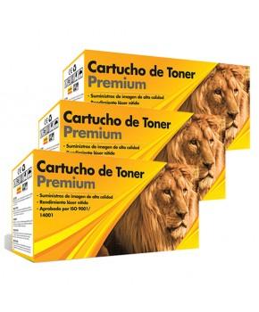 Tri Pack de Cartucho de Tóner 30A (CF230A) Negro Generación 2 Calidad Premium para 1,600 páginas.