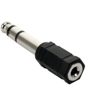Adaptador de Plug 6.3 mm a Jack 3.5 mm estéreo marca Steren