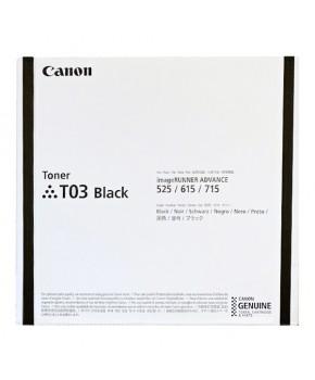 Cartucho de Tóner Canon T03 (2725C001AA) Negro Original para 51,500 páginas.