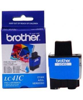 Cartucho de Tinta Brother LC41C Cyan Original para 400 páginas.