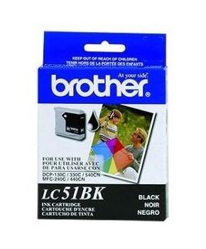 Cartucho de Tinta Brother LC51BK Negro Original para 500 páginas.