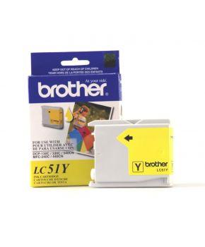 Cartucho de Tinta Brother LC51Y Amarillo Original para 400 páginas.