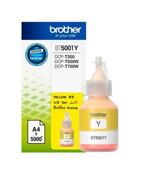 Botella de Tinta Brother BT5001Y Amarillo Original para 5,000 páginas.