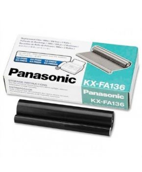 Cinta Transferencia KXFA-136 Panasonic Original  caja con 2 rollos.