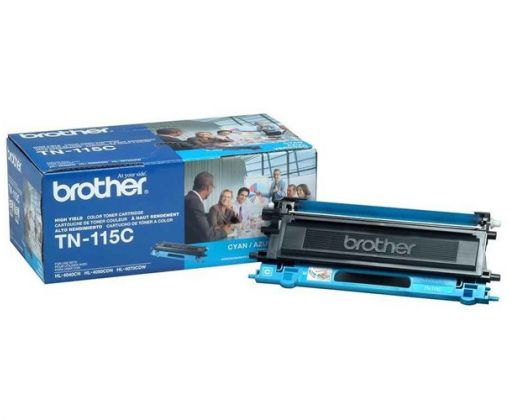 Toner Brother Cyan TN-115 Original para 4000 Impresiones.