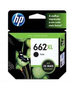 Cartucho de Tinta Original HP 662XL (CZ105AL) Negro para 360 Impresiones.