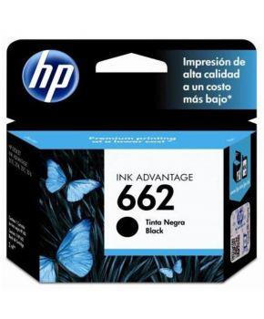 Cartucho de Tinta Original HP 662 (CZ103AL) Negro para 120 Impresiones.