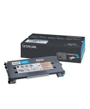 Toner Lexmark Original C500 Cyan alto rendimiento para 6600 impresiones