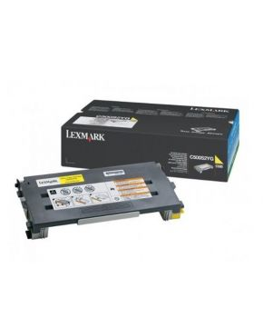 Toner Lexmark Original C500 Amarillo alto rendimiento para 6600 impresiones