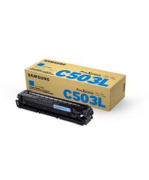 Cartucho de Toner Samsung C503L (CLT-C503L) Cyan Original para 5,000 páginas.