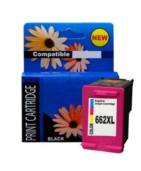 Cartucho de Tinta HP 662XL Tricolor Remanufacturado Generación 2 Calidad Premium para 300 Impresiones.