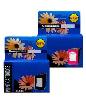 Duo Pack de 2 Cartuchos de Tinta 644XL (F6V31AL) (F6V30AL) Versión 2 Negro y Tricolor Generación 2 Calidad Premium para 480 y 330 páginas.