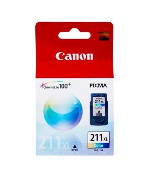 Cartucho de Tinta Canon CL-211XL (2975B017AA) Tricolor Original de Alto rendimiento para 360 páginas.