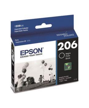 Cartucho de Tinta Epson 206 (T206120-AL) Negro Original para 300 páginas.