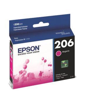 Cartucho de Tinta Epson 206 (T206320-AL) Magenta Original para 200 páginas.