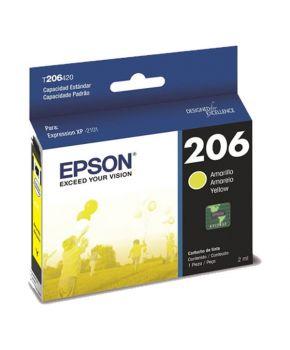 Cartucho de Tinta Epson 206 (T206420-AL) Amarillo Original para 200 páginas.