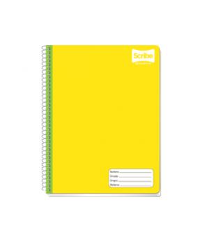 Cuaderno Profesional espiral raya de 100 hojas Marca Scribe 1 pieza.